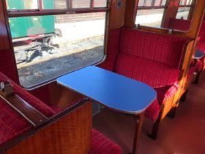 Open plan carriage interior