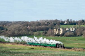 steam train countryside
