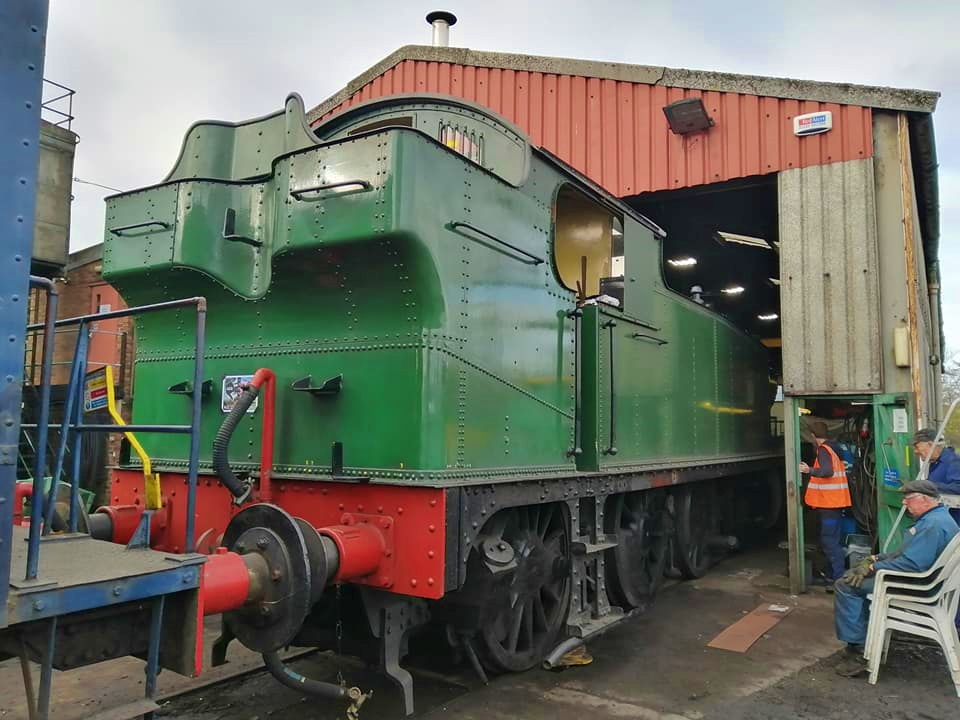 4144 enters shed