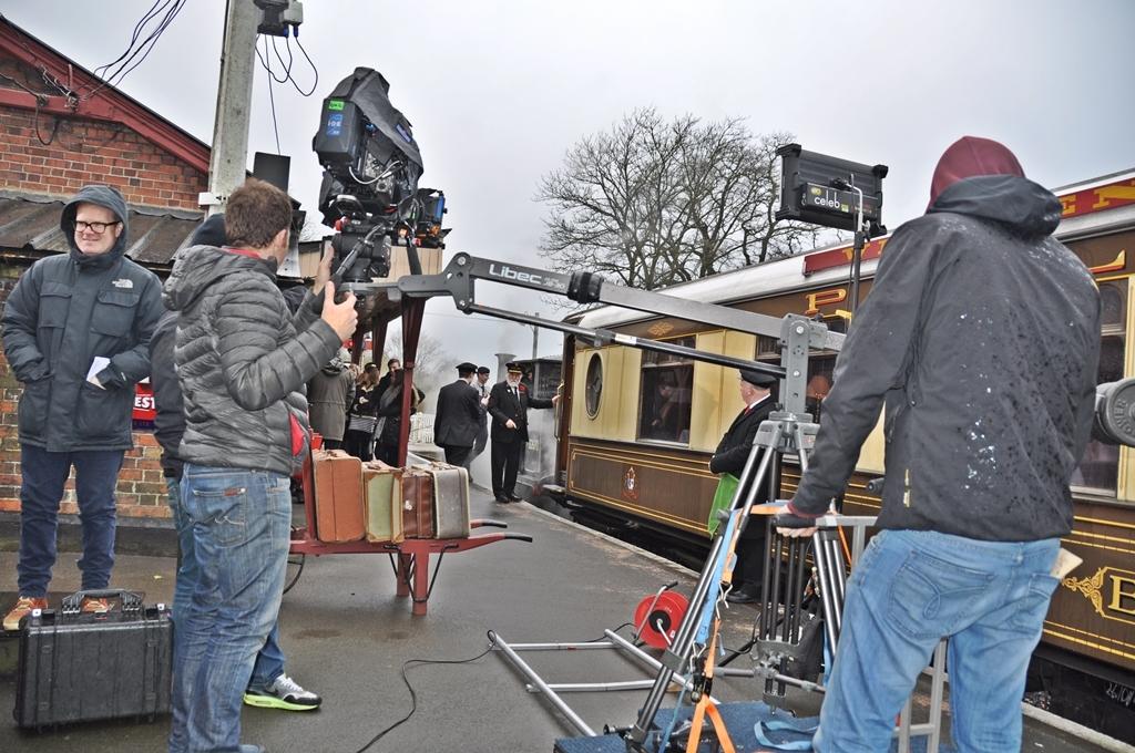 Filming at KESR